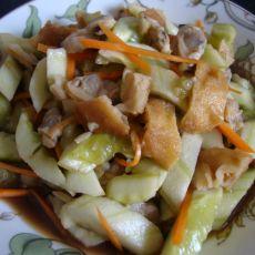 油条蛤蜊肉拌黄瓜