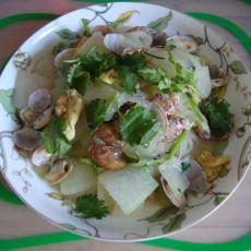 蛤蜊鸡蛋炒冬瓜的做法