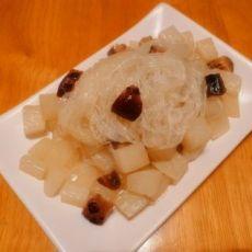 香菇粉丝白萝卜的做法