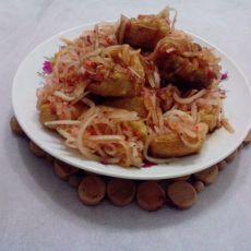 爽口豆腐干夹萝卜丝