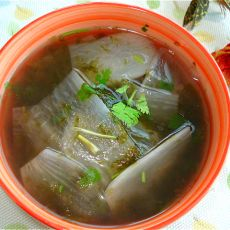 白萝卜紫菜汤