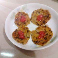 紫菜萝卜玉米面饼