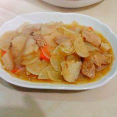 回锅肉炒白萝卜的做法