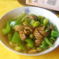 青椒银杏炒腰花的做法