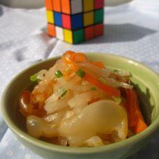 萝卜丝拌海蜇丝