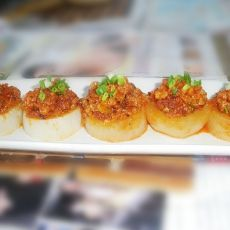 韩式辣肉酱拌白萝卜