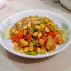 茄香豆南瓜丁