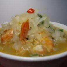 虾段萝卜丝(原创首发)的做法