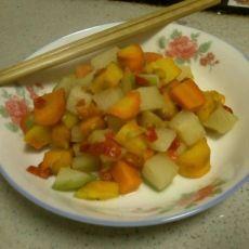 剁椒双色萝卜