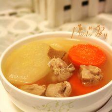 雪梨甘笋肉排汤
