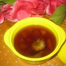 秋梨罗汉果菊花茶
