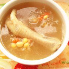 银耳鸡脚汤的做法
