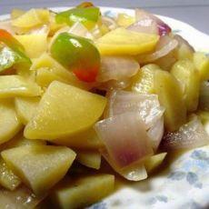 土豆片炒洋葱