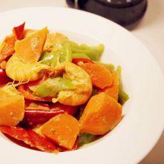 咖喱时蔬虾
