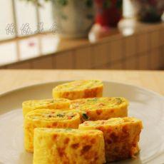 番茄香葱蛋饼卷的做法