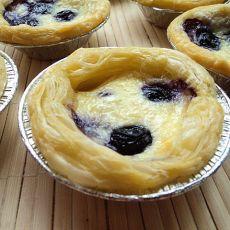 蓝莓蛋挞的做法