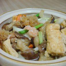 八珍豆腐煲的做法