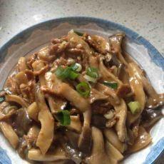 鸡腿菇炒肉丝