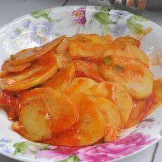 西红柿土豆片的做法