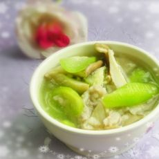 丝瓜蘑菇汤的做法