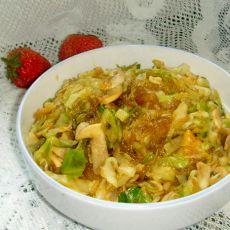 粉丝蘑菇包心菜的做法