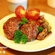 彩椒牛肉饼