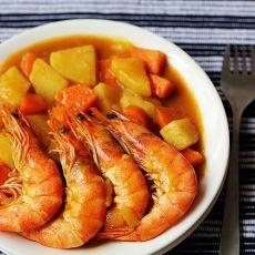 黄金咖喱虾