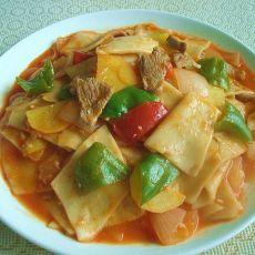 炒面片—新疆味道的做法