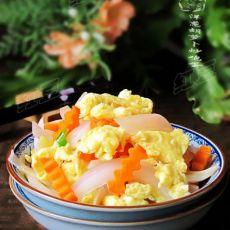 营养健康小炒---洋葱胡萝卜炒鸡蛋