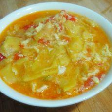 西红柿鸡蛋南瓜面片汤的做法