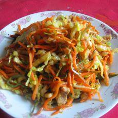 胡萝卜炒白菜丝