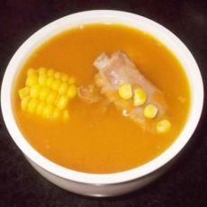 南瓜玉米排骨汤
