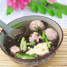 紫菜肉丸汤