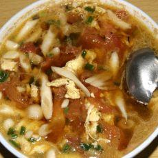 番茄鸡蛋小蘑菇汤