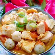 西红柿鱼丸豆腐汤的做法