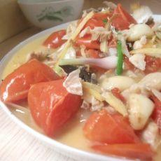 番茄炖鱼头