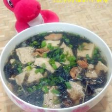 冻豆腐紫菜汤的做法
