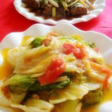 西红柿炒生菜的做法