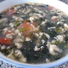 西红柿紫菜鸡蛋汤的做法