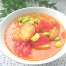 西红柿日本豆腐汤