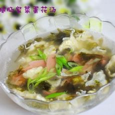 火腿肠紫菜蛋花汤