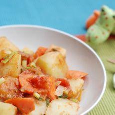 土豆西红柿炒胡萝卜