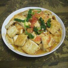 番茄炒油豆腐