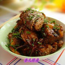 豆豉红烧鱼块