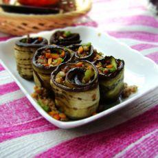 茄子肉卷的做法
