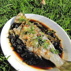 油榄角蒸海鱼