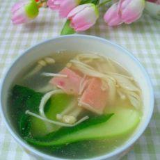 青菜金针菇火腿汤