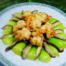 香菇油菜炒虾仁