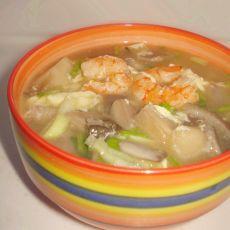 虾仁蘑菇汤