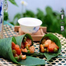 锅包虾仁粽子